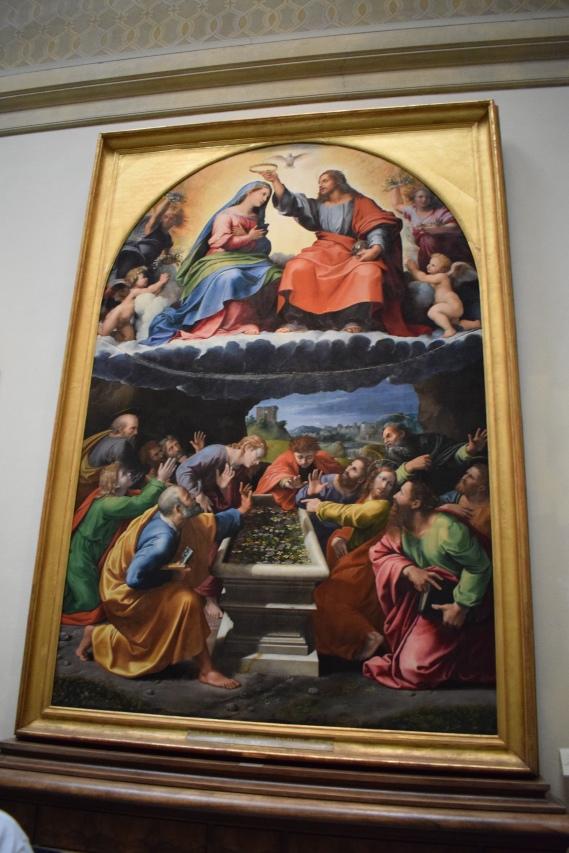Rafael y Giulio Romano. Coronación de la Virgen. Museo Vaticanos. Roma. foto: @cipripedia.