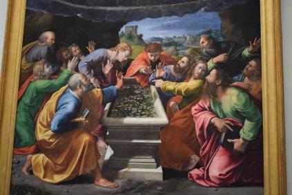 Rafael y Giulio Romano. Coronación de la Virgen (detalle zona inferior). Museo Vaticanos. Roma. foto: @cipripedia.