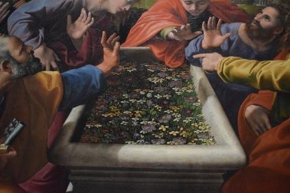 Rafael y Giulio Romano. Coronación de la Virgen (detalle del sepulcro de la Virgen). Museo Vaticanos. Roma. foto: @cipripedia.